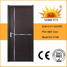 Meilleure conception de porte principale en bois de PVC de vente (SC-P186)