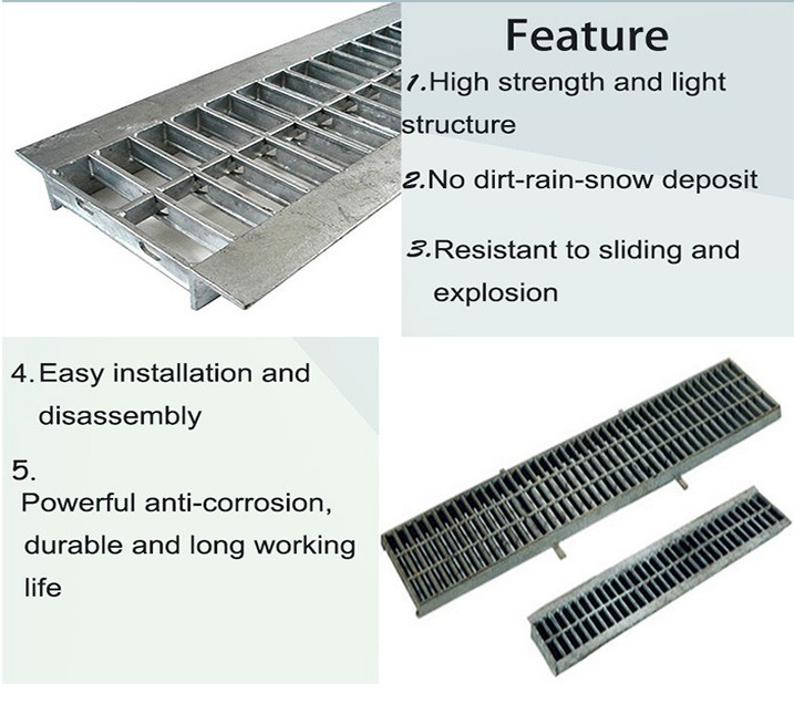 Drainage Channel Galvanized Grating