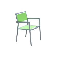 Chaise extérieure de tissu d'élingue de cadre en aluminium
