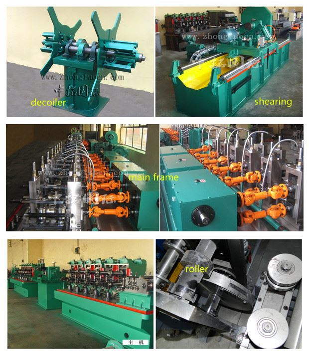 details of carbon steel pipe machine