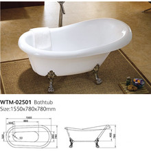 Classic Acrylic Claw Foot Freestanding Tub Wtm-02501
