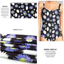 Digital Printing Swimwear Fabric with Chrysanthemum Flower