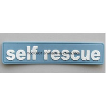 Rubber Badge for Garment Custom PVC Hook & Loop Patch, Silicone Rubber Patch, Garment PVC Badge,