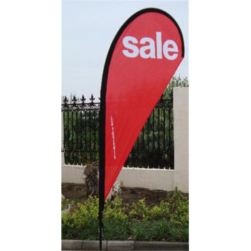 Roadside Business Free Design Anpassad Teardrop Flag Banner