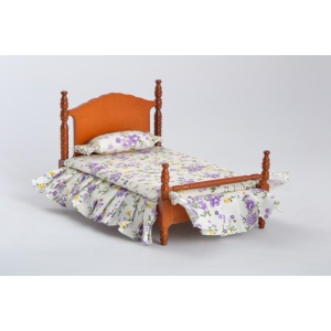 1/12 Scale Wooden Dollhouse Bed