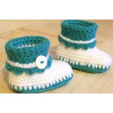 Späteste Baby-Säuglingshandgemachte Häkelarbeit stricken Beuten Schuhe Großverkauf