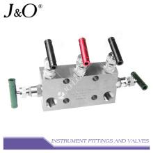 Manifolds de válvula de 5 vías de instrumentos de acero inoxidable