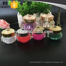 10g 15g couleur diamant forme cosmétique pot acrylique crème