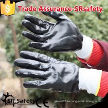 SRSAFETY 13 нитевых перчаток с покрытием из трикотажных нитей, защитных рабочих перчаток, перчатки с нитриловым покрытием