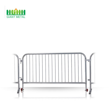 Galvanied crowd barrier control