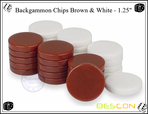 Backgammon Chips Brown AND White 1