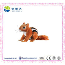 Soft Plush Lifelike Chipmunk Toy Pet Dog Toy
