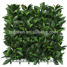 UV coated decorative outdoor artificial green leaf fence