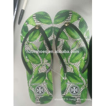 2016 eva imprimé pantoufle zipper fabriqué en Chine