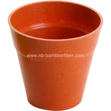 Bamboo fiber with circular and environment flower pots