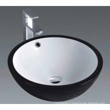 Salle de bain Céramique Art Basin avec surface noire (1001)