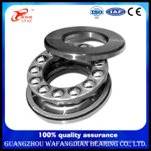 China Supplier Steel Cage Axial Load Flat Thrust Ball Bearing 51217 85X125X31mm
