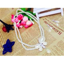 Suzhou Real foto elegante cristal perla perla perlas collar