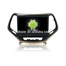 Quad core! Android 4.4 / 5.1 voiture dvd pour Jeep Cherokee avec écran capacitif de 10,1 pouces / GPS / lien miroir / DVR / TPMS / OBD2 / WIFI / 4G