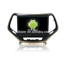 Quatro núcleos! Android 4.4 / 5.1 carro dvd para Jeep Cherokee com 10.1 polegadas tela capacitiva / GPS / Link Mirror / DVR / TPMS / OBD2 / WIFI / 4G