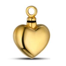 Pendentif en urne en forme de coeur en or 18 carats