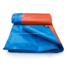blaue 4x5m wasserdichte PE-Plastikplane