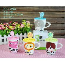 Sweet Animal Cup with Lollipop Spoon