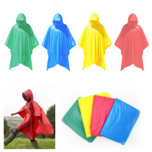 Green / Blue / Yellow / Red Color Rain Poncho for Advertising Gifts