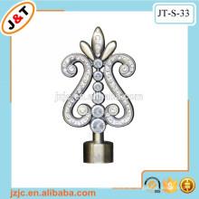 Feine Qualität gekrümmte flexible Duschvorhangstange mit Diamant Finial