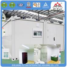 Контейнерная модульная стальная и стеклянная дома быстрого строительства