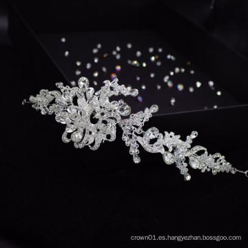 Accesorios para el cabello nupciales hechos a mano de Europa, exquisita diadema de cristal para desfile, diadema de boda