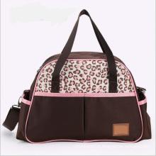 Saco do tecido do bebê com impressão cor-de-rosa do leopardo