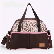 Baby Diaper Bag with Pink Leopard Printing