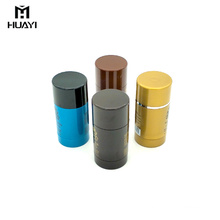 wholesale empty plastic cosmetic packaging cylinder deodorant stick container