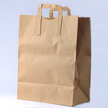 Brown Paper Carrier Bags with Flat Handle
