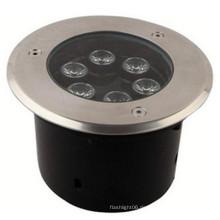 6 * 1W AC220V Edelstahl Eingebettete Unterwasserlichter