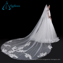 Sequined Soft Tulle Beatiful Bridal Veil With Lace Beads