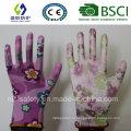 13Г полиуретановым покрытием сад перчатки работы (сл-г-PU2011)