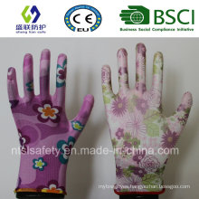 13G PU Coated Garden Work Glove (SL-G-PU2011)
