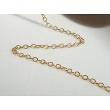 2015 Gets.com14k oro lleno de cadena ovalada, hallazgos rellenos de oro y componentes