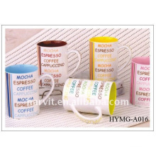 Wholesale 2015 11oz new bone china coffee mug/straight body coffee cup/ Factory price decal printed new bone china mugs