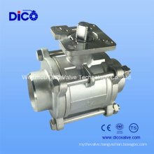 Ts 3 Pieces High Platfrm Ball Valve with Butt-Weld End