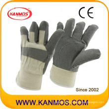 Vendemos guantes de trabajo de seguridad industrial de vinilo blanco trasero (41017)