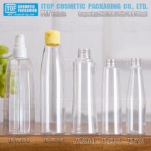 80ml 100ml 150ml 200ml und 250ml sehr schön und schönes Design heiß-Verkauf verschiedene klare pet Plastikflaschen