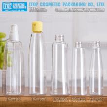80ml 100ml 150ml 200ml et 250ml belle et belle conception hot-vente différents clair plastique bouteilles d'animal familier
