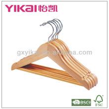 Деревянная вешалка для домашнего использования с круглой планкой