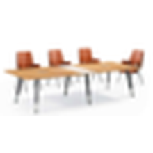 Melamine with metal leg office meeting table design for meeting room
