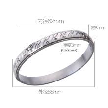 High-End Edelstahl Schmuck Muster Armband / Armreif