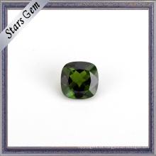 Moda Brillante Verde Diopside Natural de piedras preciosas para joyería
