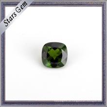 Gemstone diopside natural brilhante verde da forma para a joia